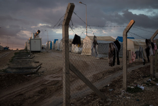 08/02/2016 - Sharya, Iraq: Since 2014 the majority of internally displaced persons lives in the Kurdistan Region of Iraq in one of the refugee camps. The tents in Sharya have a size of 16 m² and stand next to each other in rows allowing no privacy to the people.